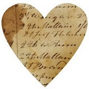Heart with writing