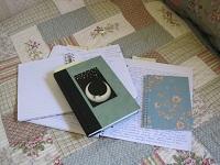 Journals on quilt