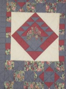 Heart quilt wall hanging